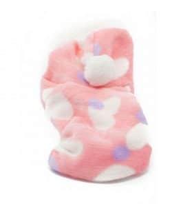Pijama Perra Rosa Polar Capucha Pompon Corazones Ropa Perros Invierno (2)