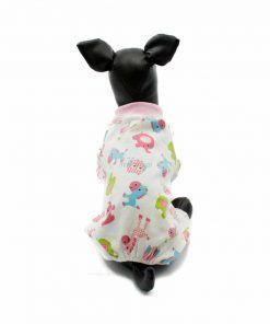 Pijama Perro Blanco Rosa Animalitos Calentito Ropa Perros Invierno (1)