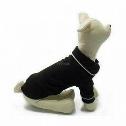 Pijama Perro Negro Botones Elegante Filo Blanco Ropa Perros (4)