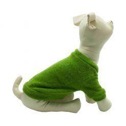 Rebeca Punto Perro Verde Botones Negros Ropa Perros Primavera (3)