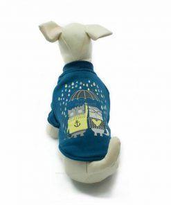 Sudadera Azul Gatos Lloviendo Paraguas Ropa Perros Primavera (2)
