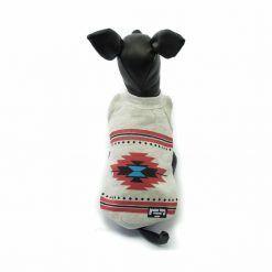 Sudadera Perro Blanca Gris Dibujo Rojo Estilo Indio Ropa Perros Primavera (3)