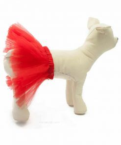 faldas para perritos tutu roja