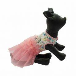 Vestido Camiseta Estampada Flores Falda Tutu Rosa Ropa Perros Verano (3)