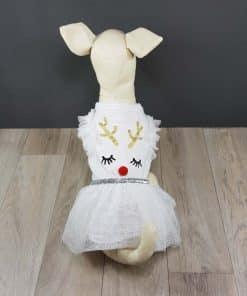 ALT vestido blanco para perritas con falda de tul